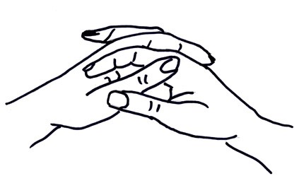 Hands Clasped Together Drawing Clasp Your Hands Together in